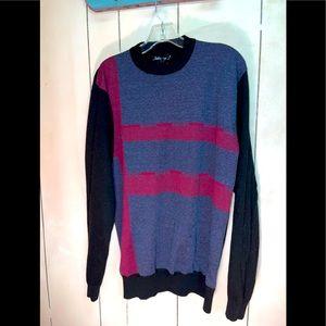 JOHNNY J Modern art knit SWEATER